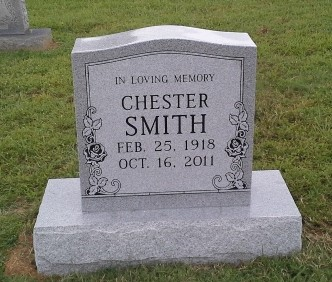 Headstone for Chester Smith