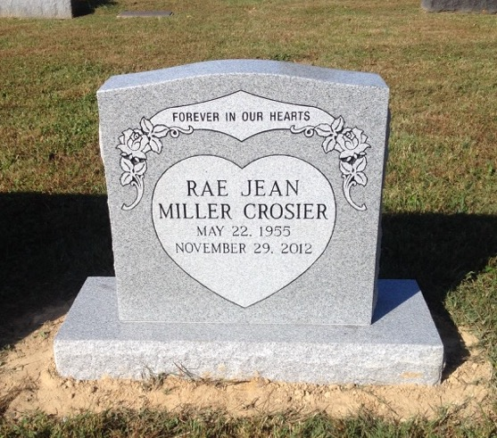Headstone for Rae Jean Miller Crosier