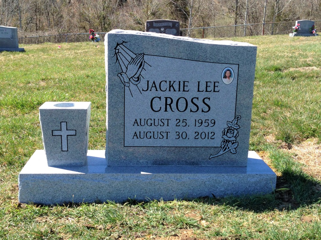 Headstone for Jackie Lee Cross