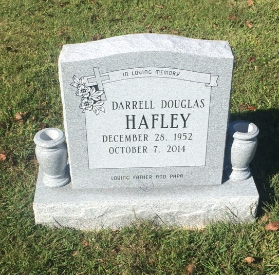Headstone for Darrell Douglas Hafley