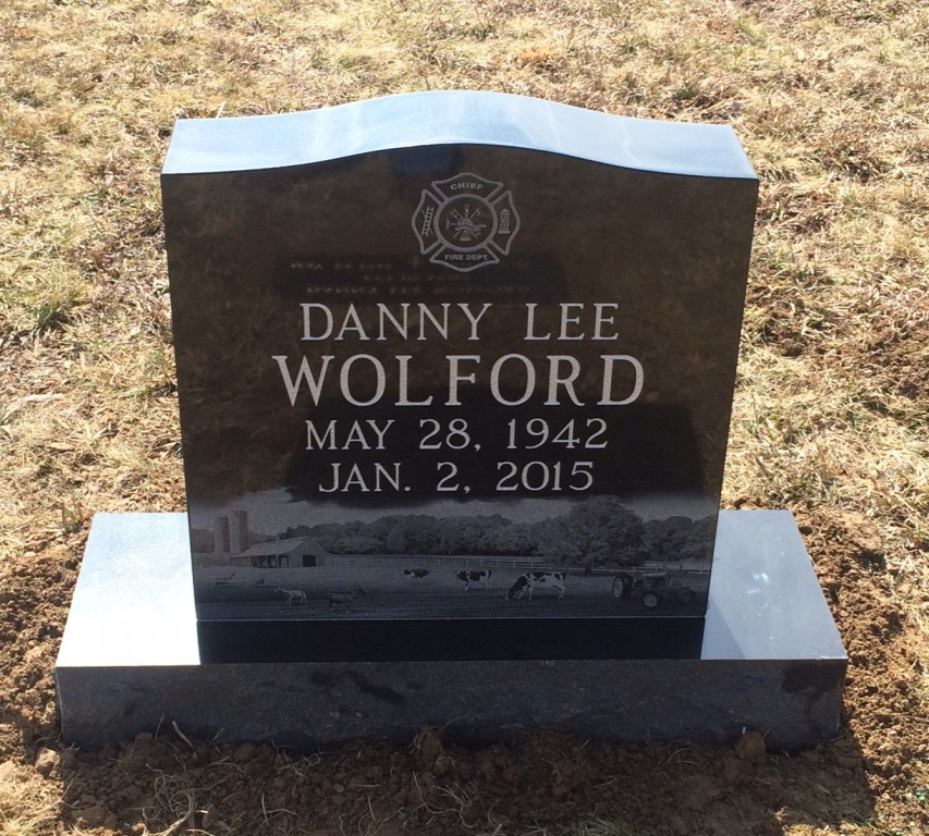 Headstone for Danny Wolford