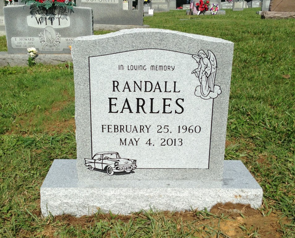 Headstone for Randall Earles