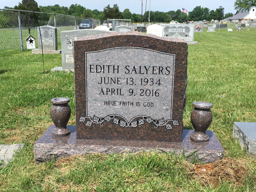 Headstone for Edith Salyers