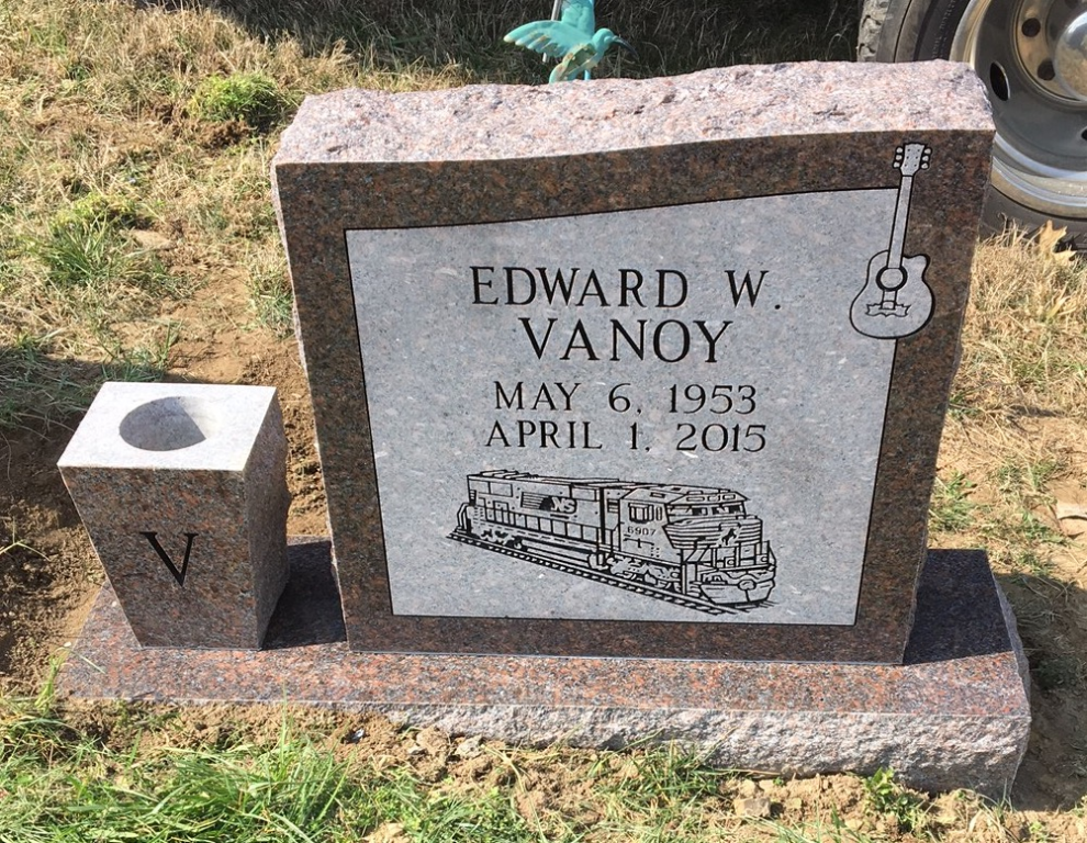 Headstone for Edward Vanoy
