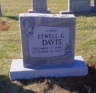 Headstone for Etwell Davis