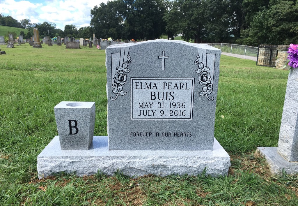 Headstone for Elma Buis