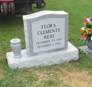 Headstone for Flora Reid