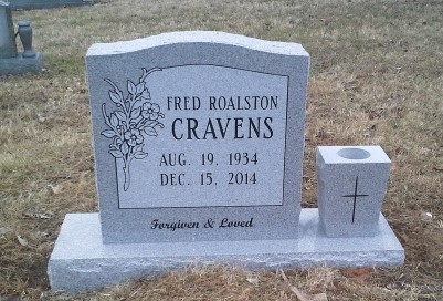 Headstone for Fred Cravens