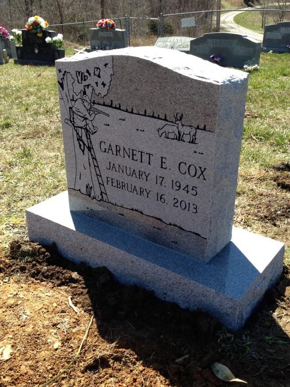 Headstone for Garnett Cox