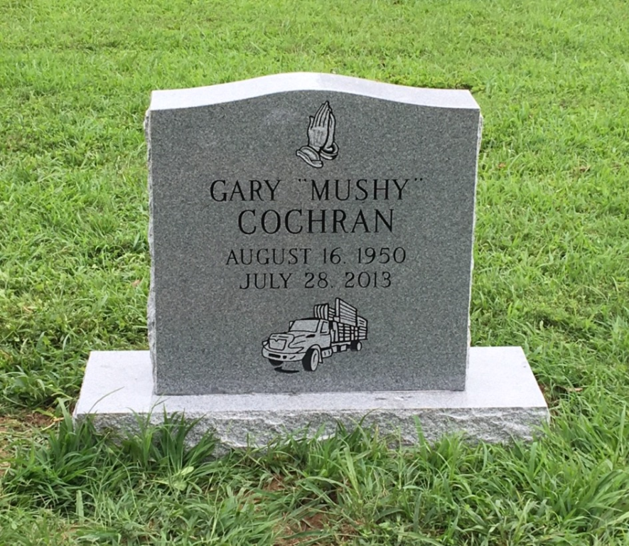 Headstone for Gary Mushy Cochran