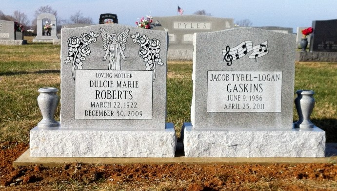 Gaskins and Roberts Headstones