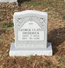 Headstone for George Clatis Frederick