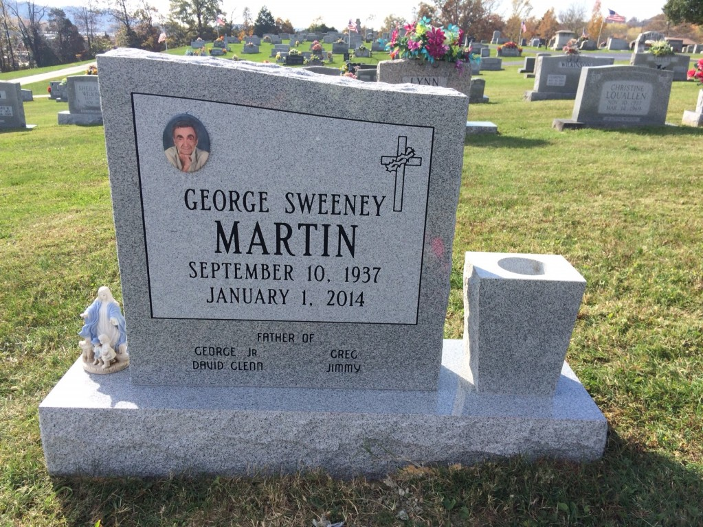 Headstone for George Sweeney Martin