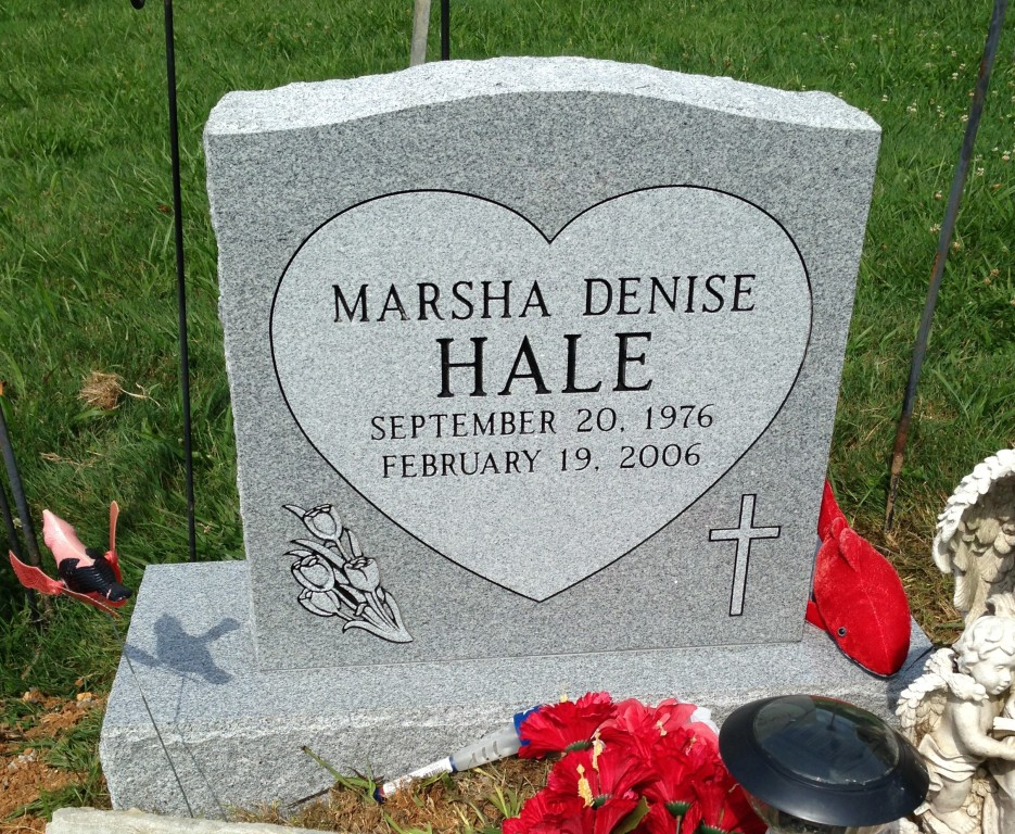 Headstone for Marsha Denise Hale