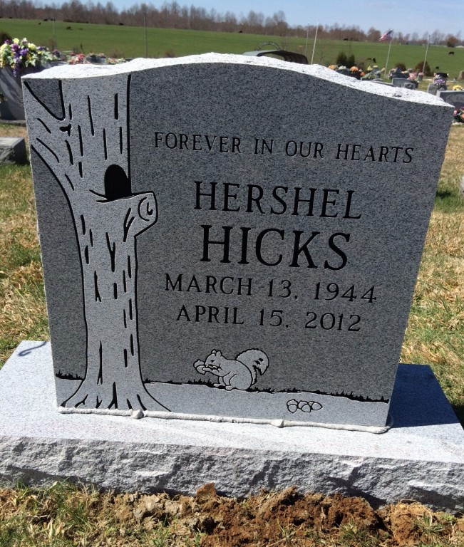 Headstone for Hershel Hicks
