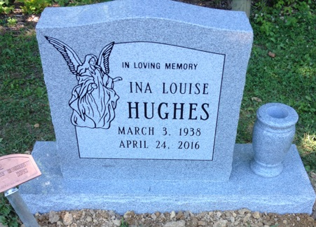 Headstone for Ina Louise Hughes