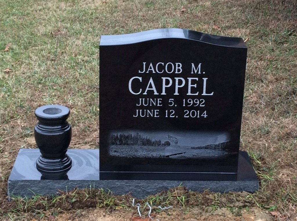 Headstone for Jacob M. Cappel