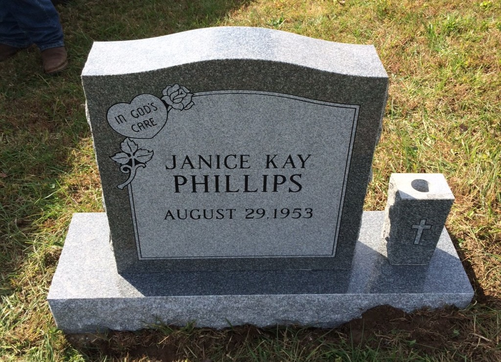 Headstone for Janice Kay Phillip