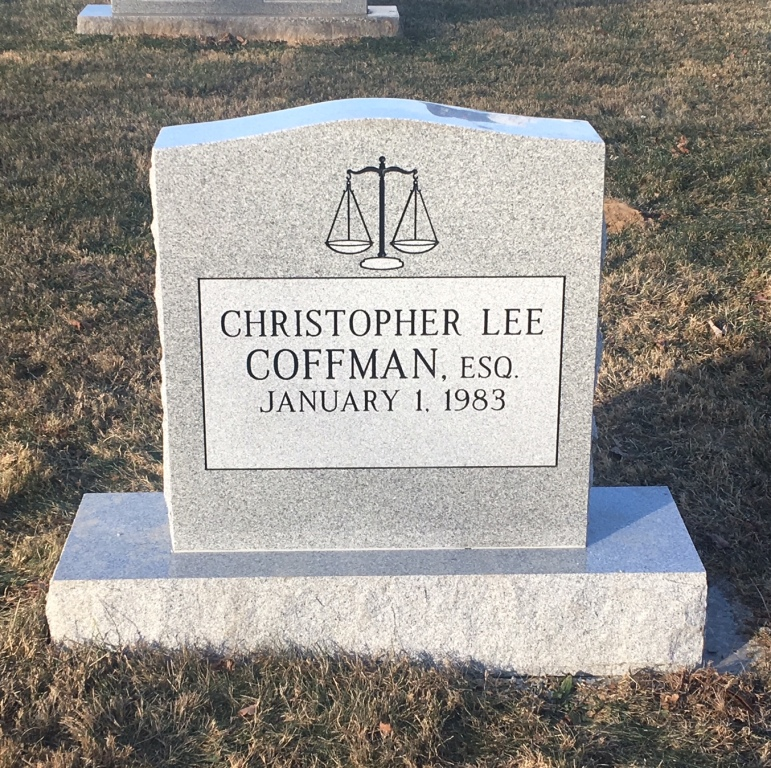 Headstone for Chris Coffman
