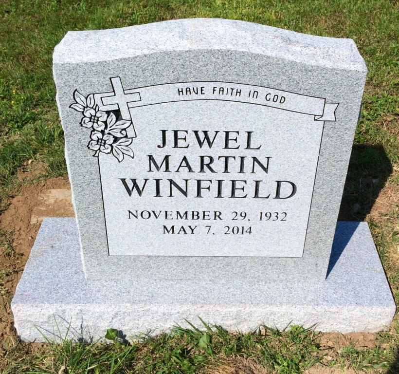 Headstone for Jewel Martin Winfield