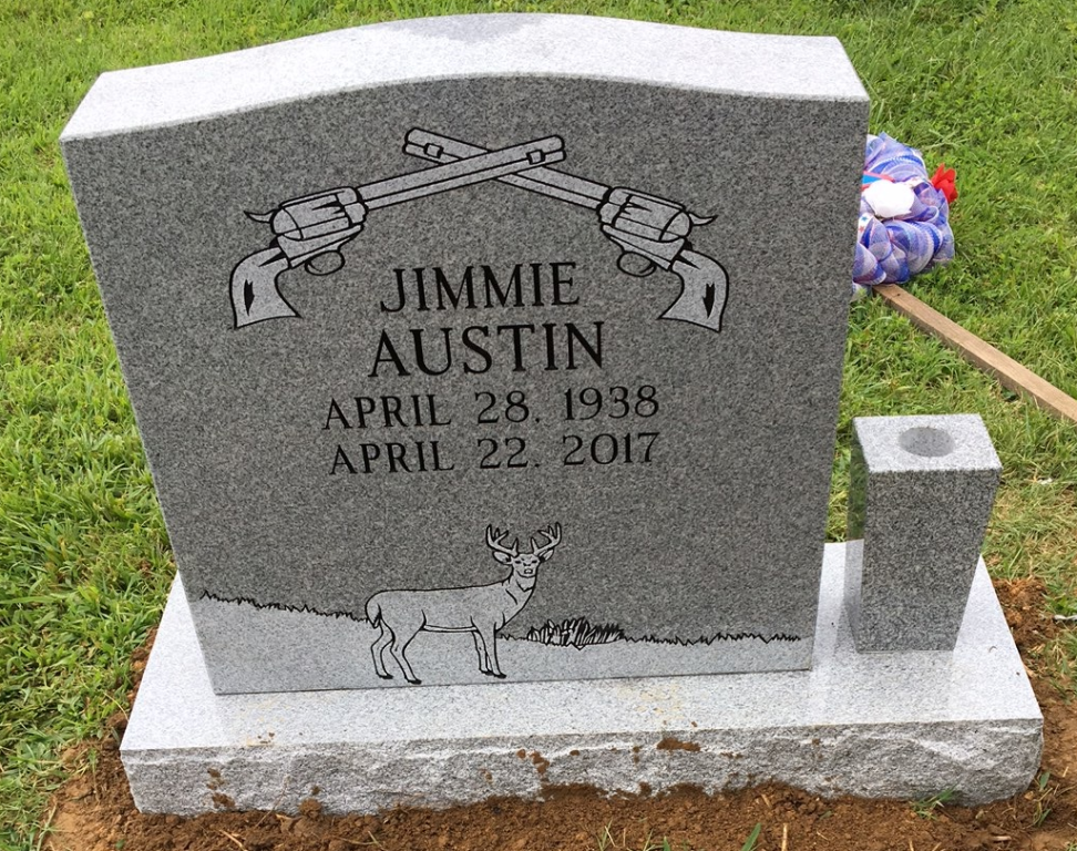 Headstone for Jimmie Austin