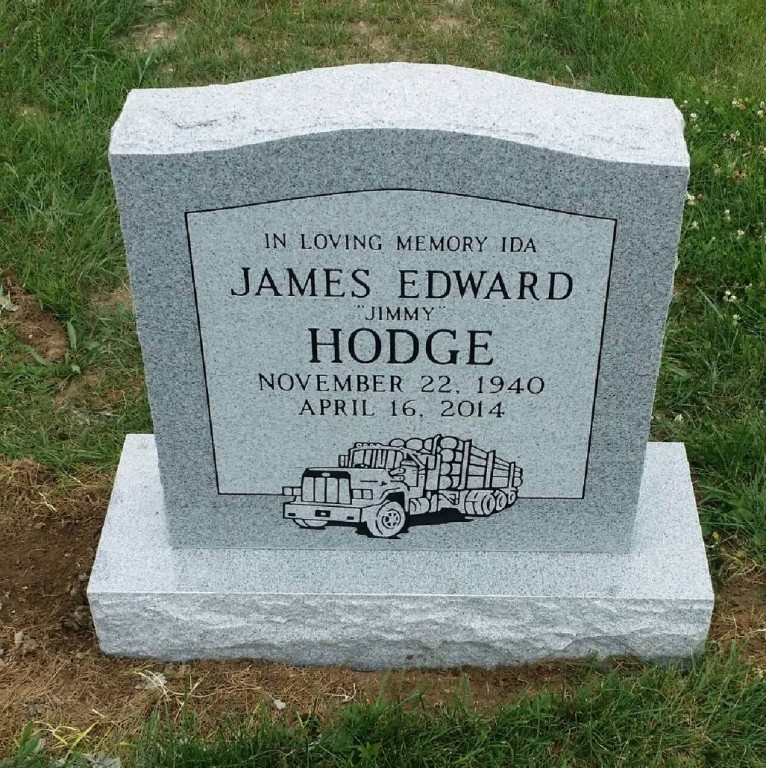 Headstone for Jimmy Hodge