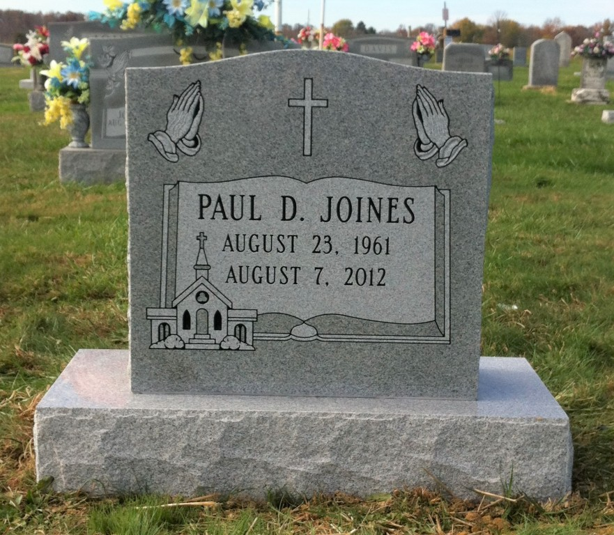 Headstone for Paul Joines