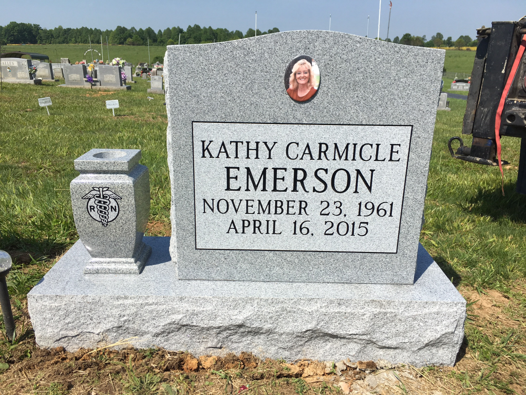 Headstone for Kathy Emerson