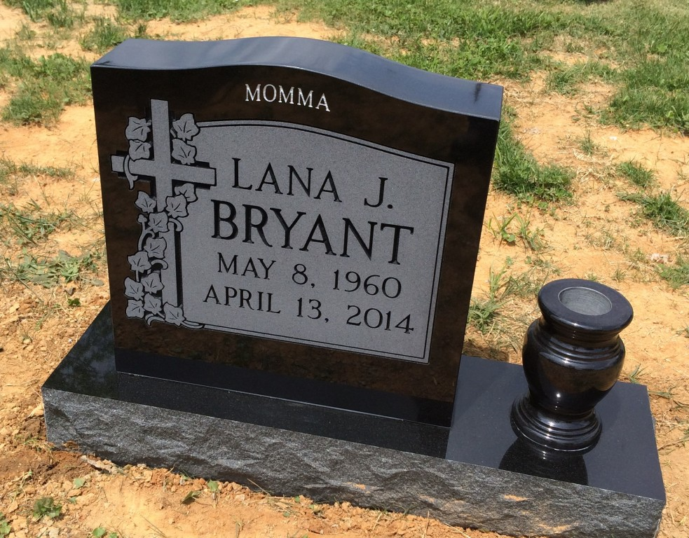 Headstone for Lana J. Bryant