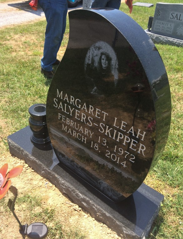 Headstone for Leah Skipper