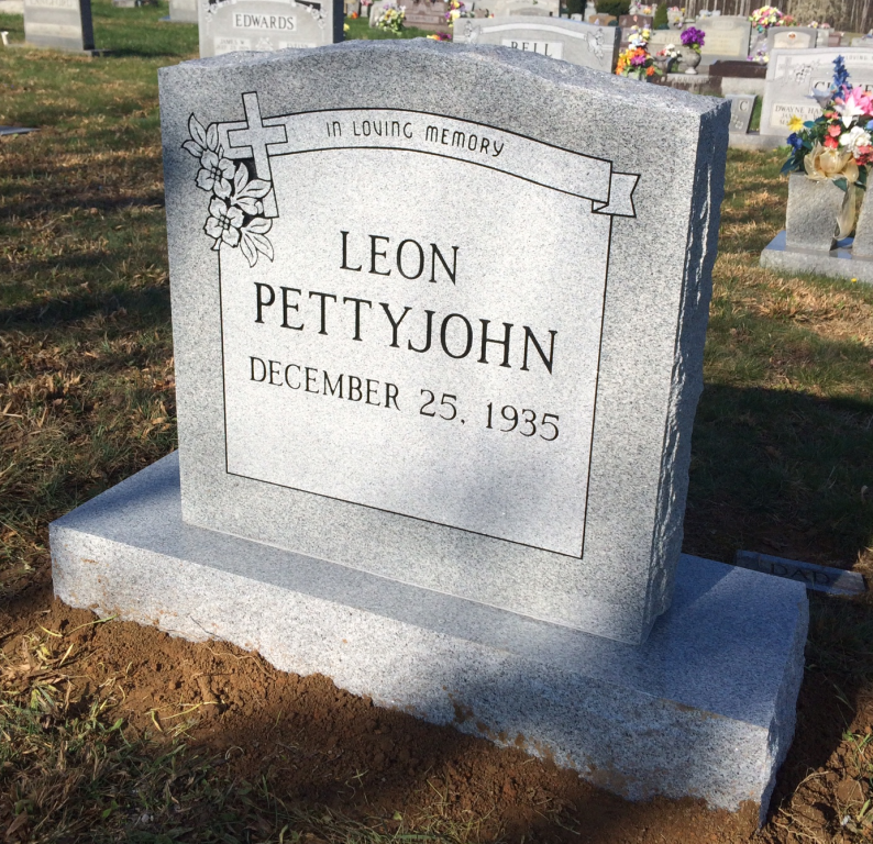Headstone for Leon Pettyjohn