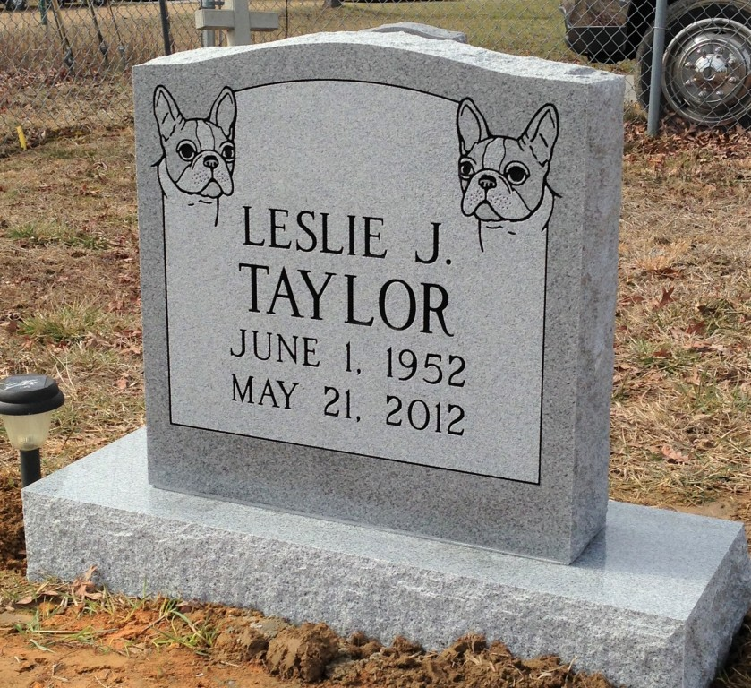 Headstone for Leslie Taylor