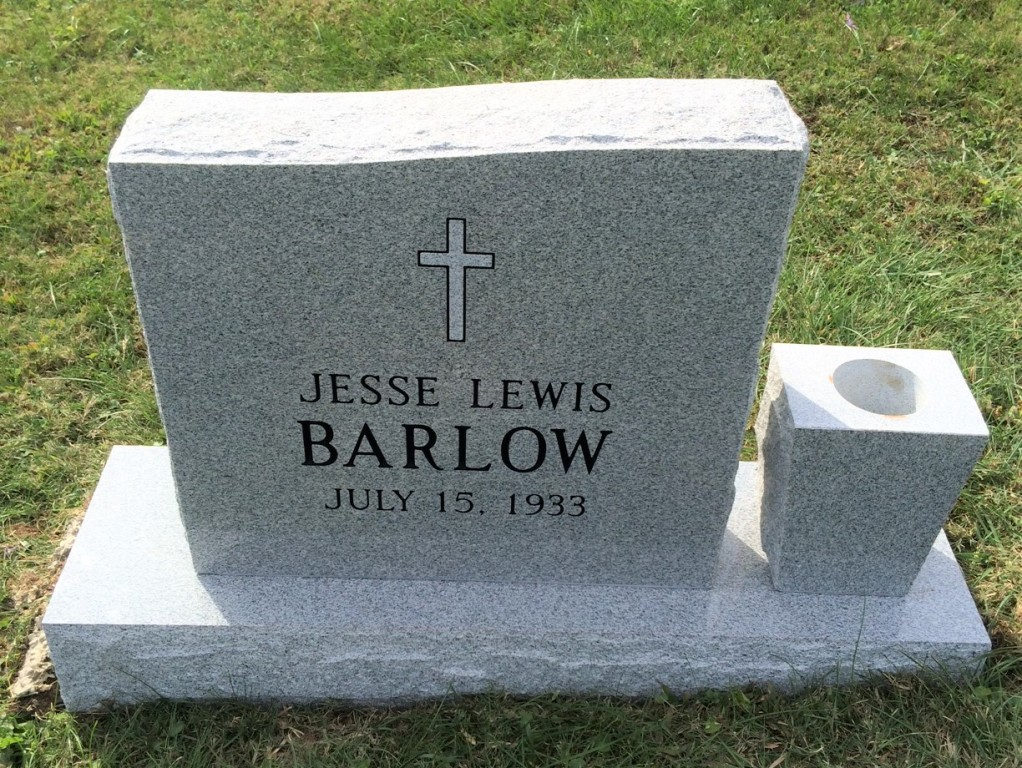 Headstone for Lewis Barlow