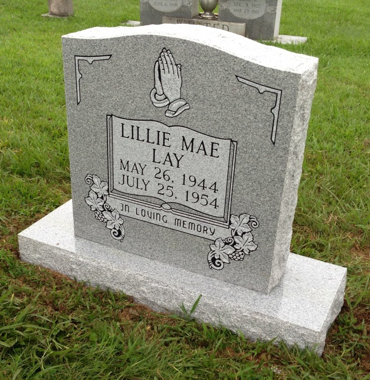 Headstone for Lillie Mae Lay
