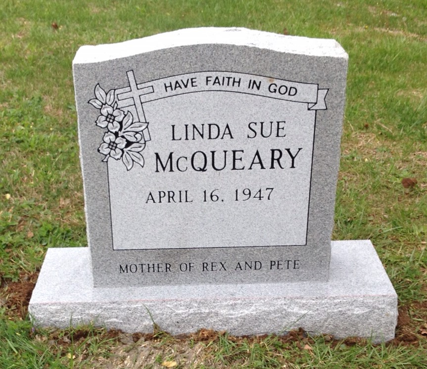 Headstone for Linda Sue McQueary