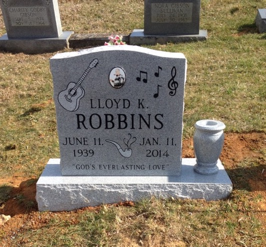 Headstone for Lloyd K. Robbins