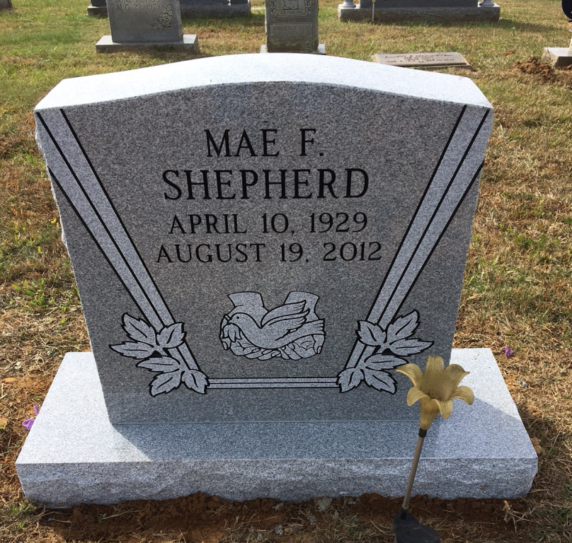 Headstone for Mae Shepherd