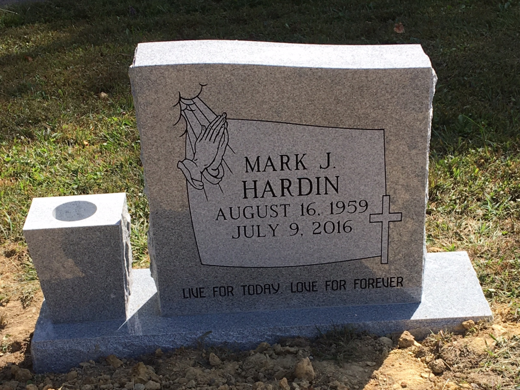 Headstone for Mark J. Hardin