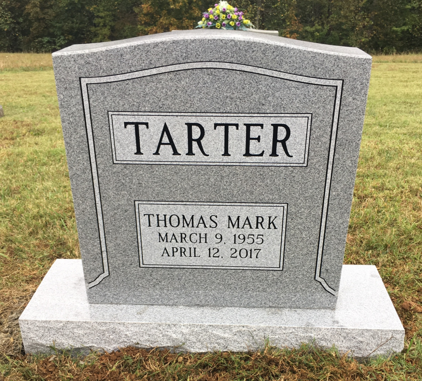 Headstone for Mark Tarter
