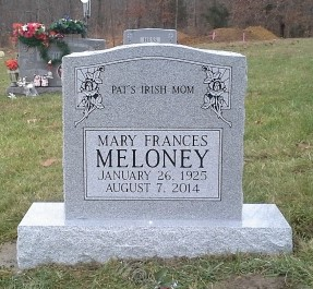 Headstone for Mary Frances Meloney