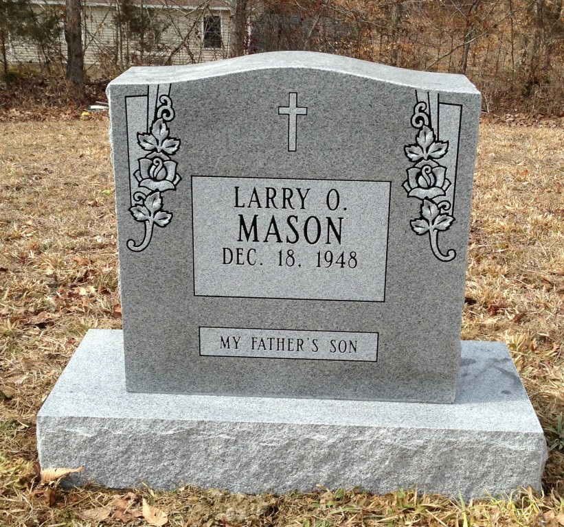 Headstone for Larry Mason
