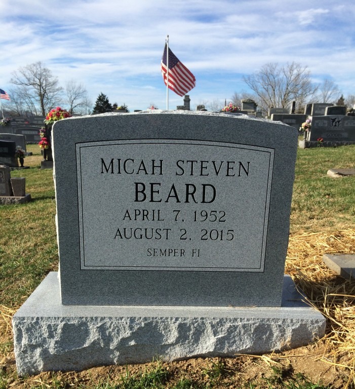 Headstone for Micah Beard