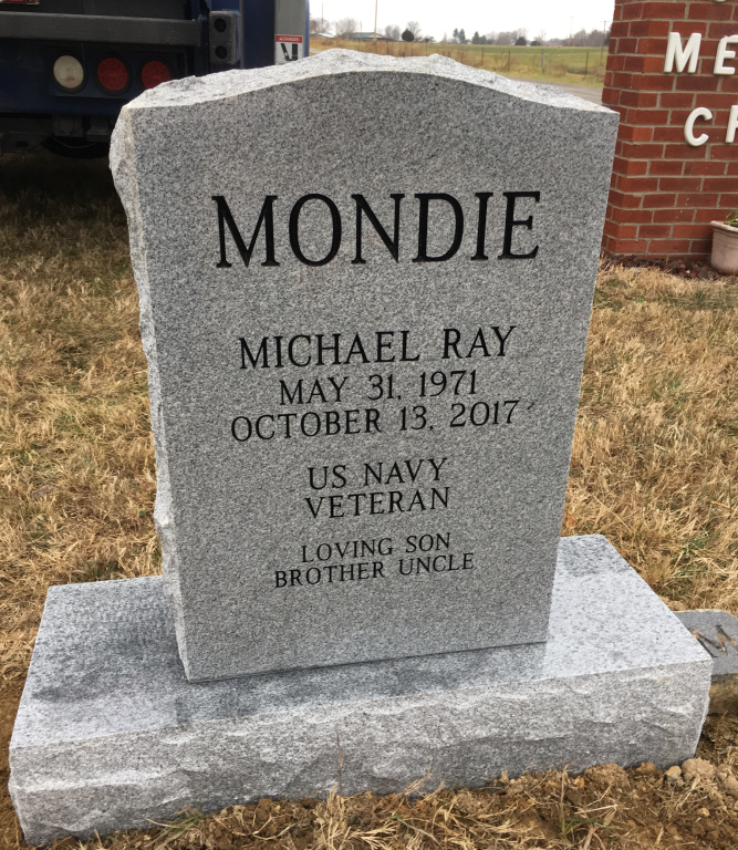Headstone for Michael Ray Mondie