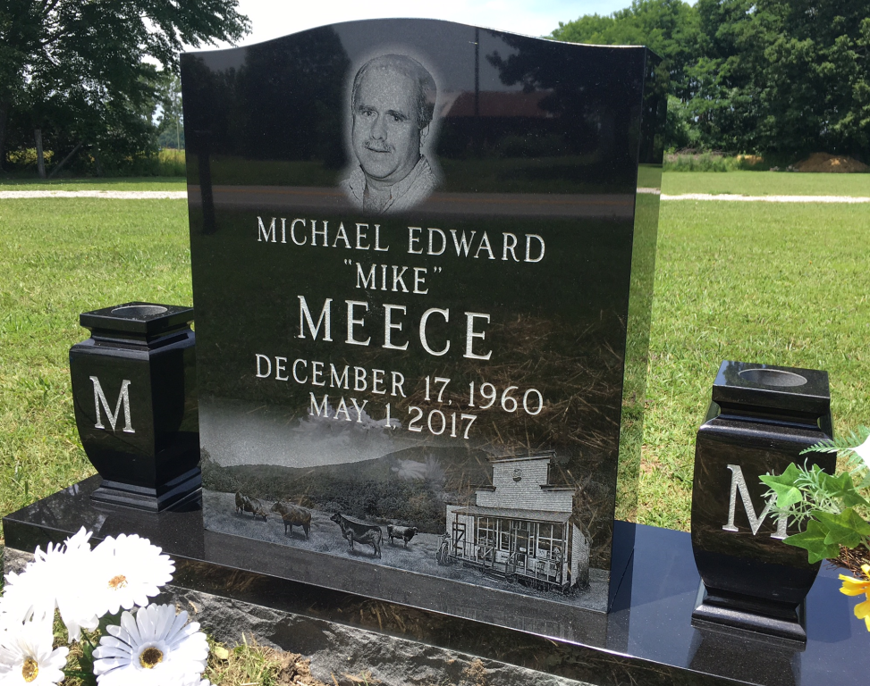 Headstone for Mike Meece