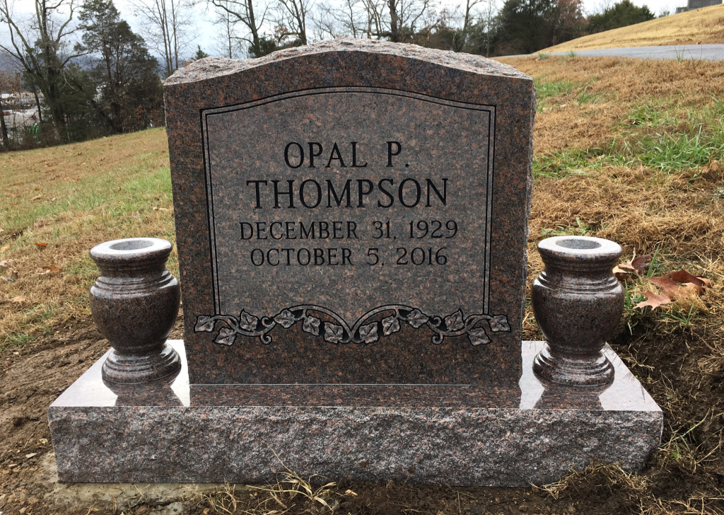 Headstone for Opal Thompson