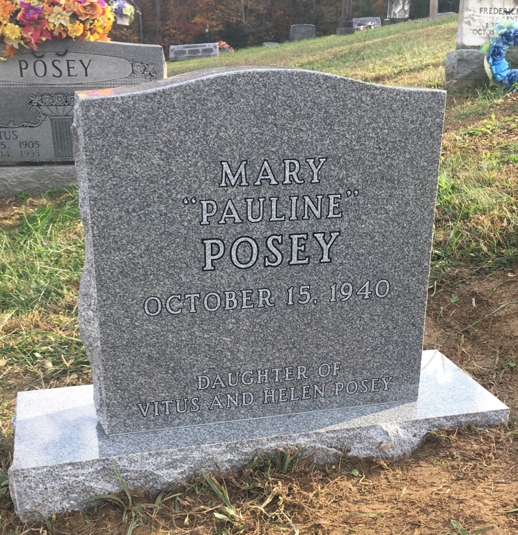 Headstone for Mary Pauline Posey