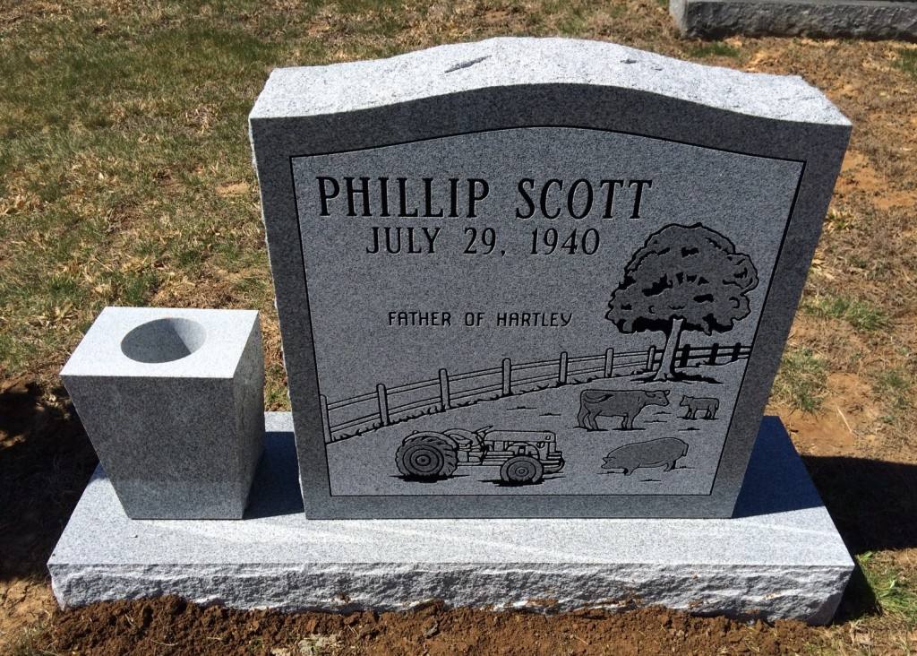 Headstone for Phillip Scott
