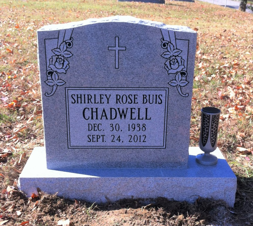 Headstone for Shirley Rose Buis Chadwell