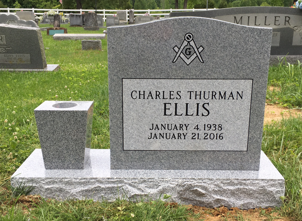 Headstone for Charles Thurman Ellis