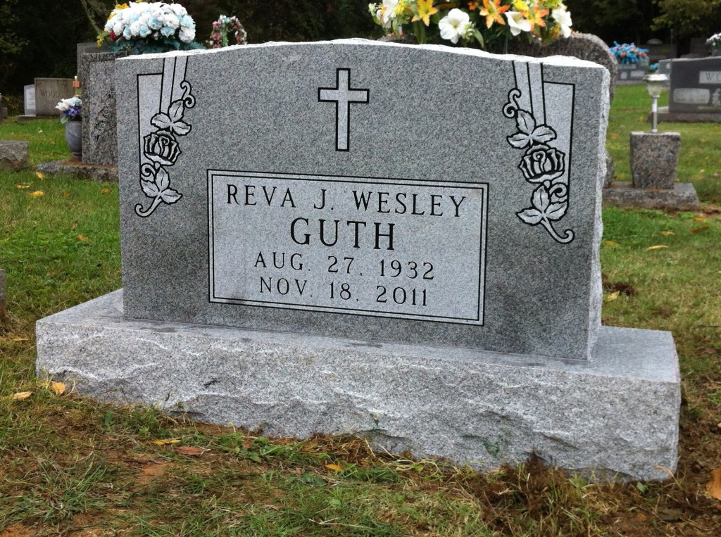 Headstone for Reva Wesley Guth